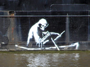 Banksy on the thekla arp 300x224 Purplefrog Property