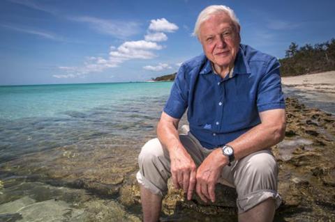 David Attenborough at Great Barrier Reef Purplefrog Property