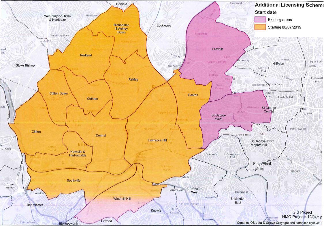 licensing areas Bristol Purplefrog Property
